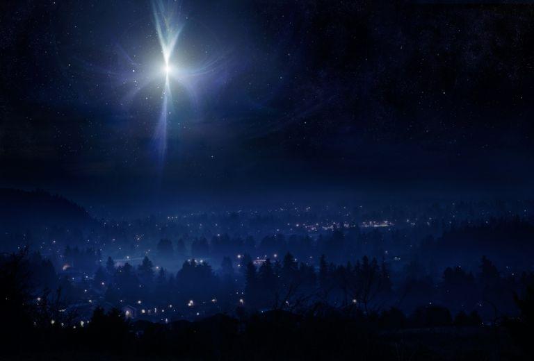 Bethlehem star Christmas night sky
