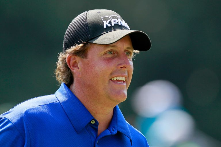 Phil Mickelson is all smiles during a tournament