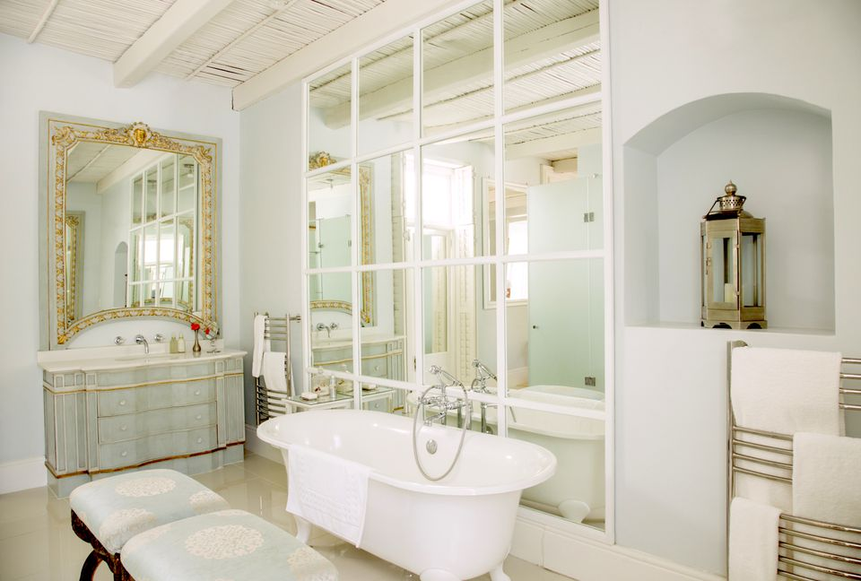Bathroom wall mirror. Home Staging  How to Enlarge your Interiors with Mirrors