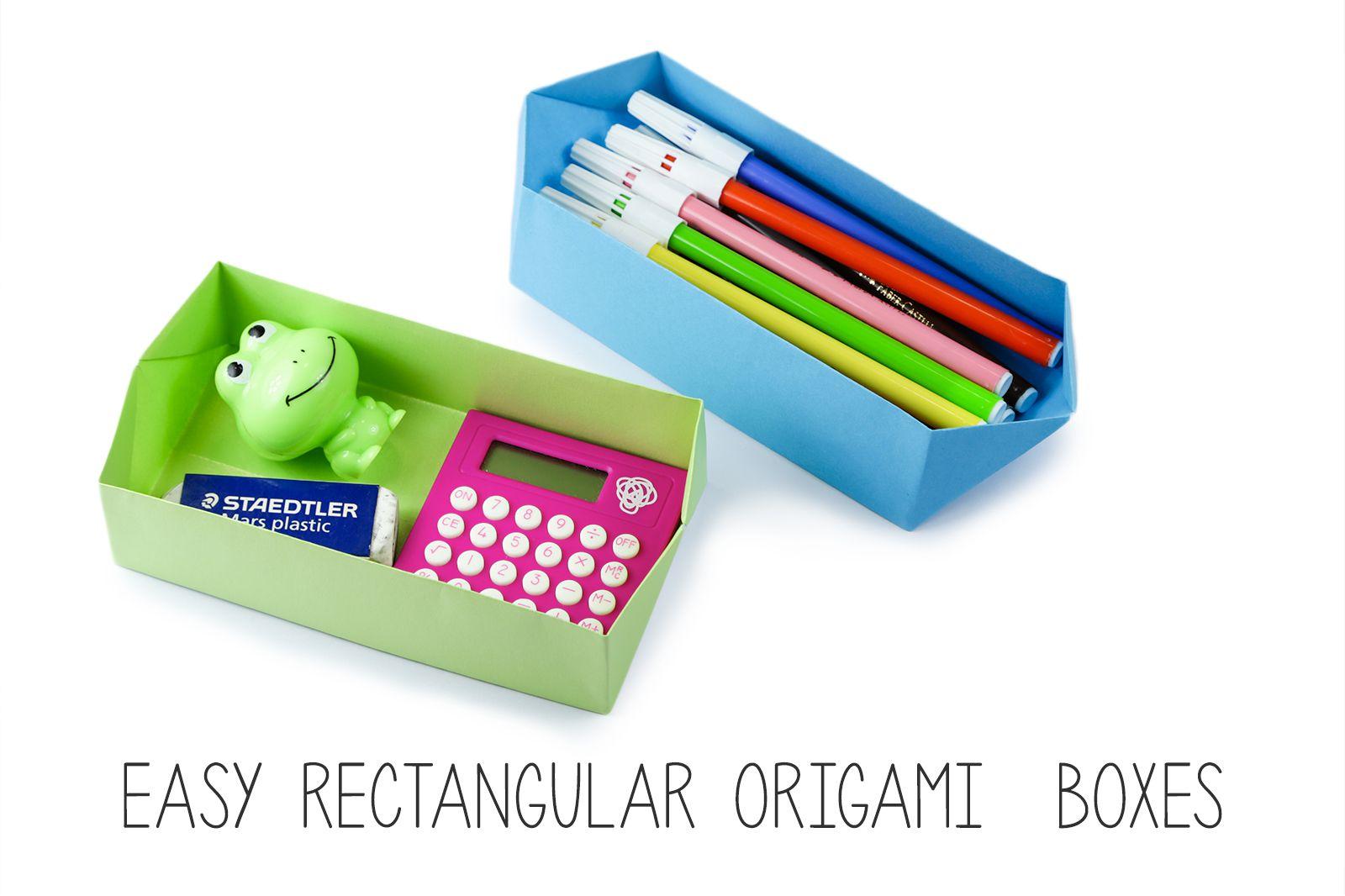 Easy rectangular origami box instructions jeuxipadfo Image collections