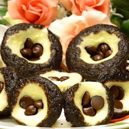 chocolate cupcakes recipe, black bottom, cheesecake, mini-cupcakes, dessert, receipts