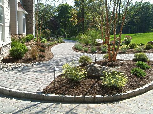 front walkway ideas multiple sinuous paths intersect - Walkway Ideas