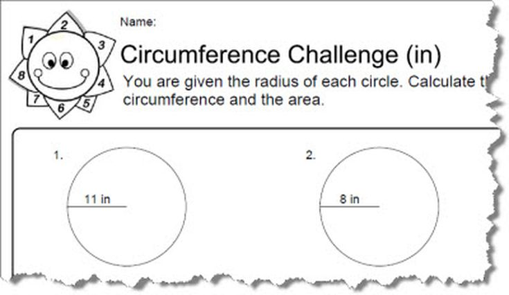 Circumference worksheets with answers ccuart Images