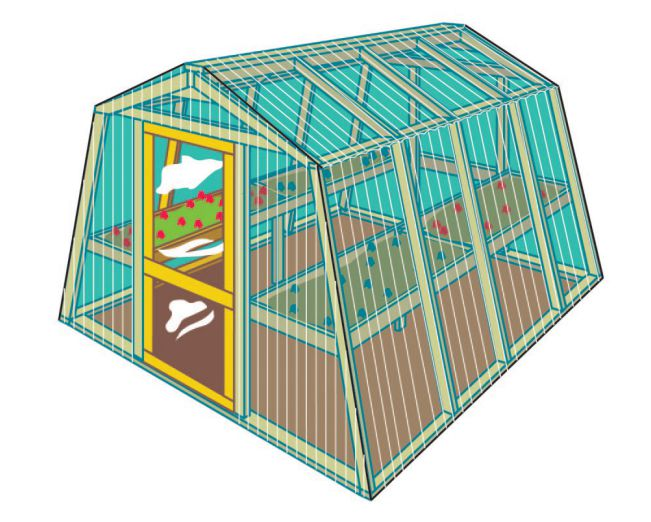 how to build greenhouse ark