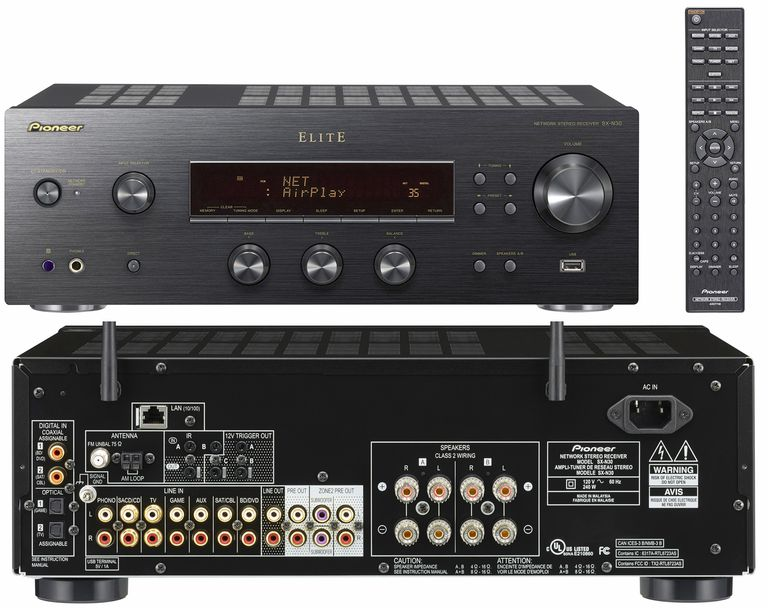 Pioneer Elite SX-N30 Two-Channel Network Stereo Receiver - Front and Rear Views
