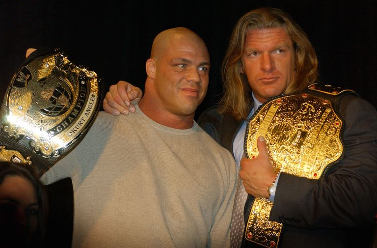 Kurt Angle and Triple H in 2003