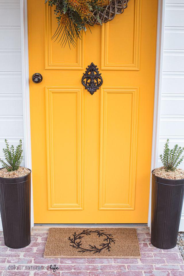 DIY Autumn Wreath Door Mat