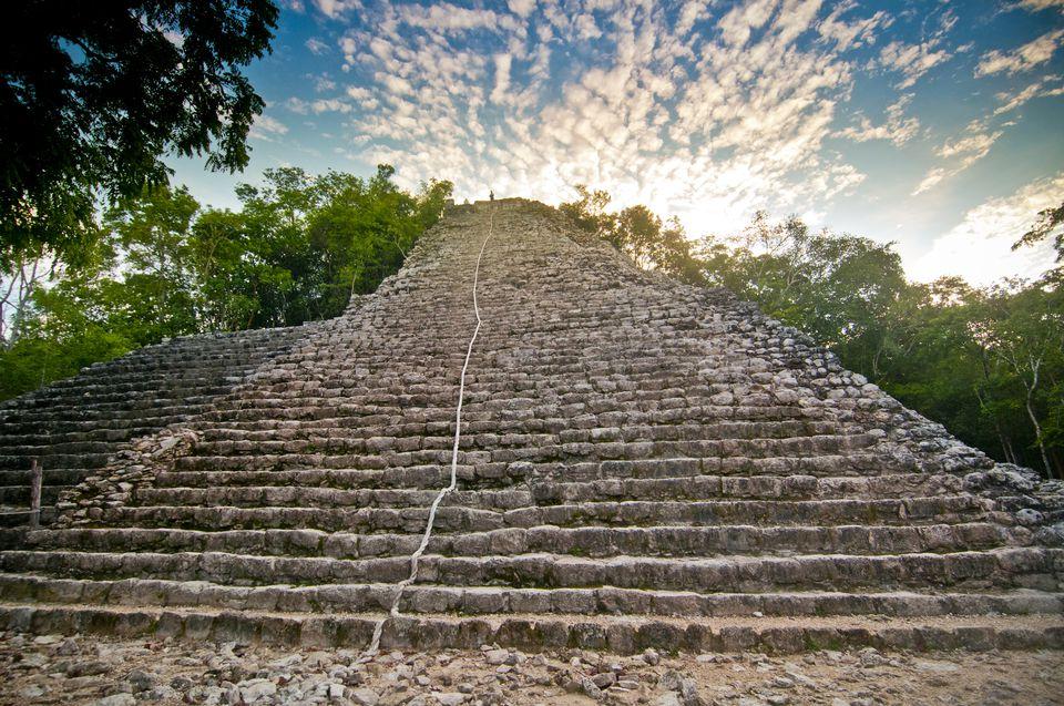Nohoch Mul (large hill), Maya ruins at Coba