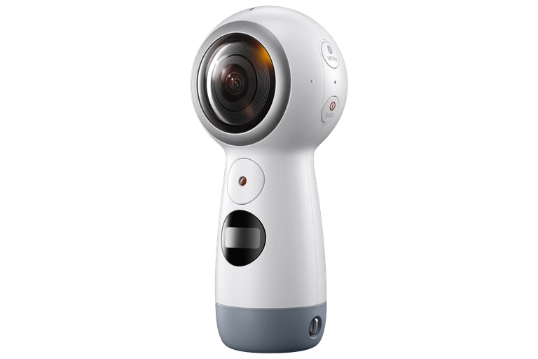 The Samsung Gear 360 (2017) has an improved, easier to use form factor.