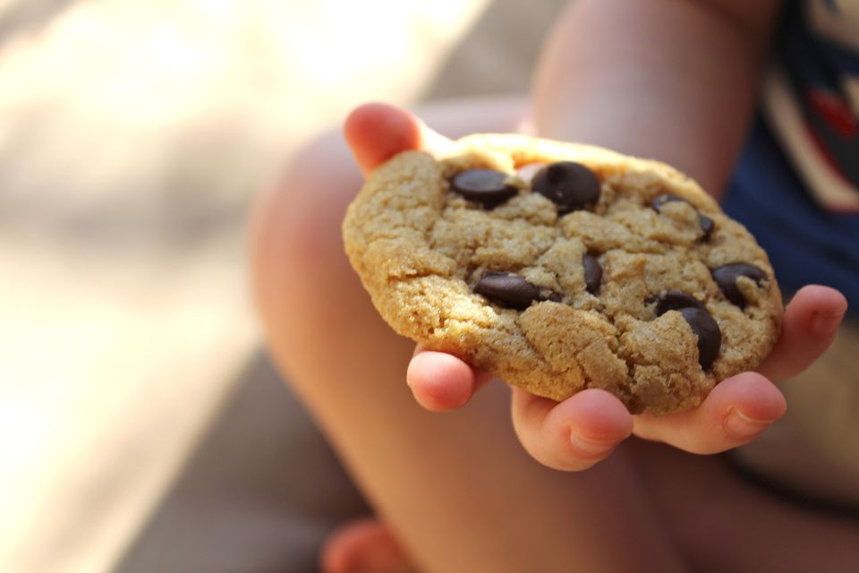 Baby with a Whole Wheat Chocolate Chip Cookie