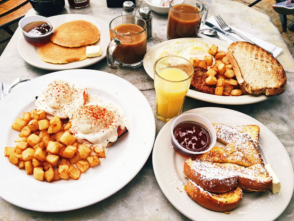 brunch set out on a table