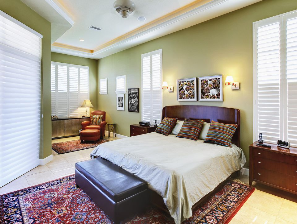 Bedroom with area rug.