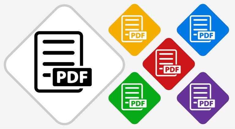 PDF Color Diamond Vector Icon