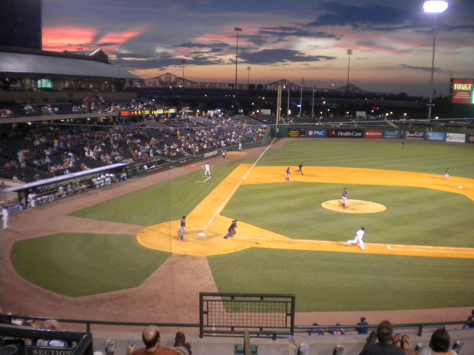 Sunset over Louisville Slugger Field