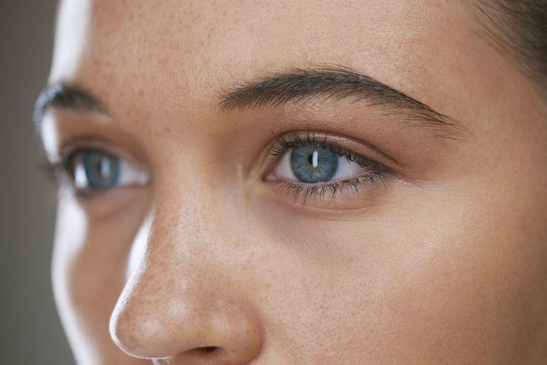 Close up of blue eye