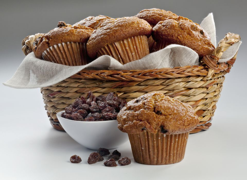 Old-Fashioned Bran Muffins With Raisins