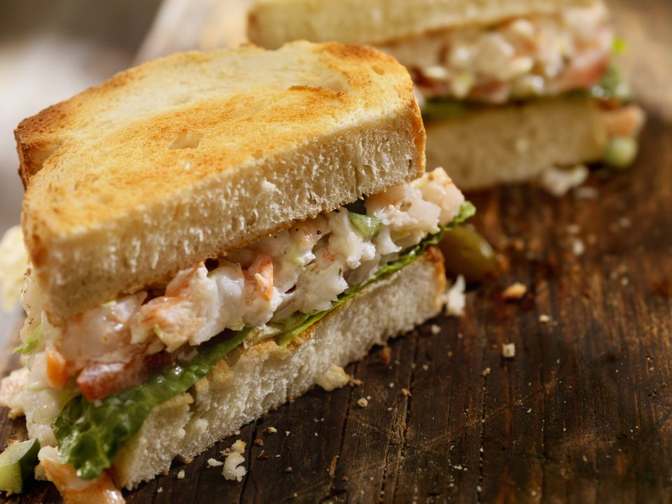recipe: shrimp salad melt [11]