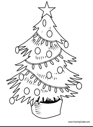 coloring castles printable christmas tree coloring pages - Pictures Of Coloring Pages