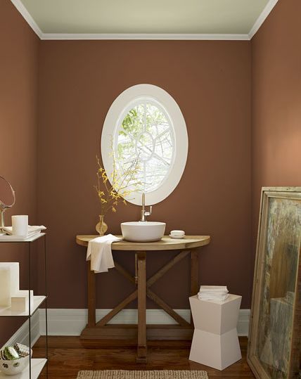 6 best paint colors for bathrooms for Bathroom earth tone color schemes
