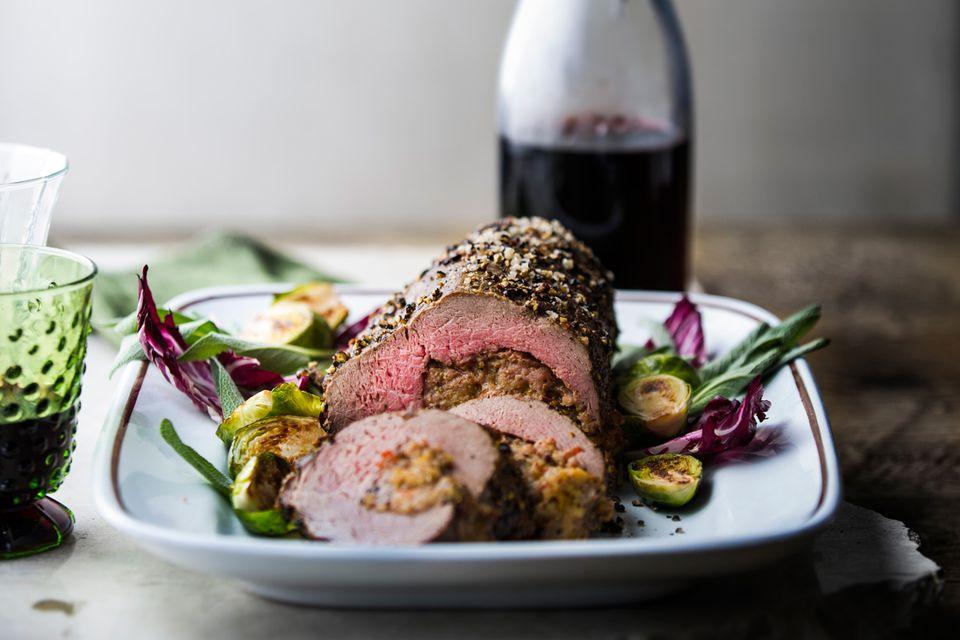 Beef tenderloin red wine