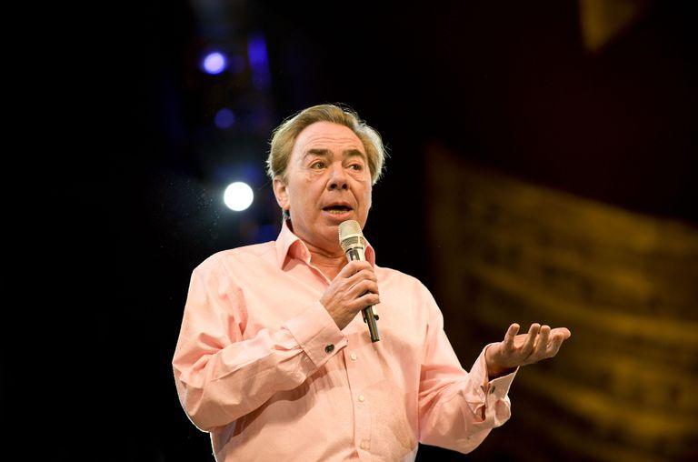 Andrew Lloyd Webber at his birthday in the Park concert in Hyde Park, London.