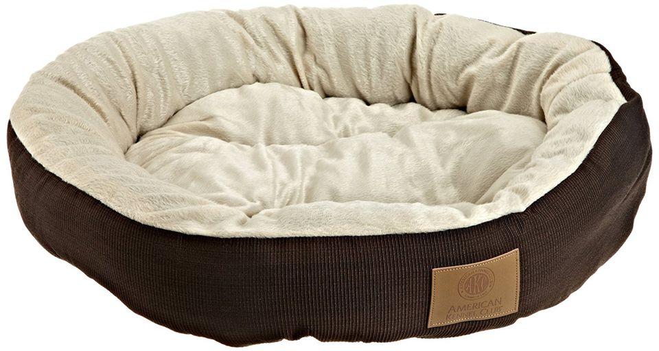 Denim Covered Dog Bed