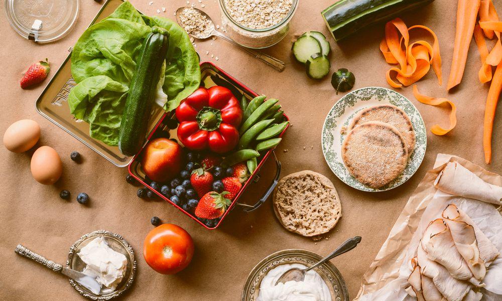 Assortment of healthy foods