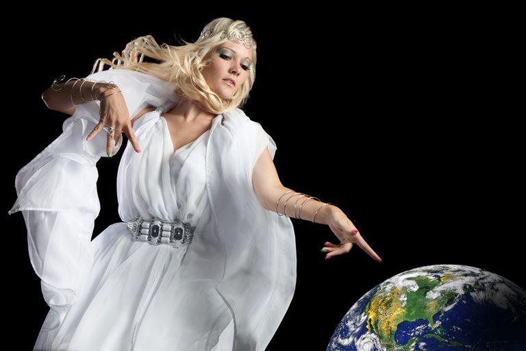 Principality angel Earth globe