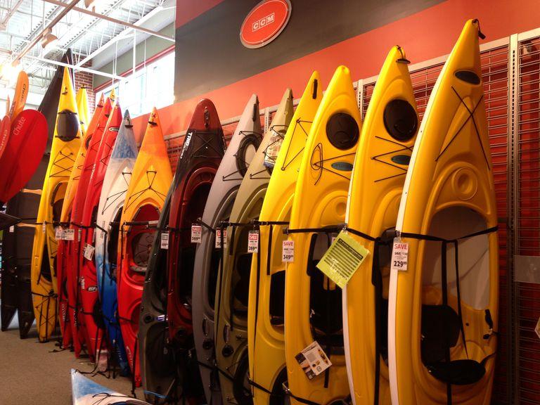 Recreational Kayak Options at a big box retailer