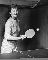 Woman Playing Ping-Pong