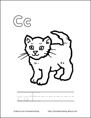 Letter C Coloring Book Free Printable Pages