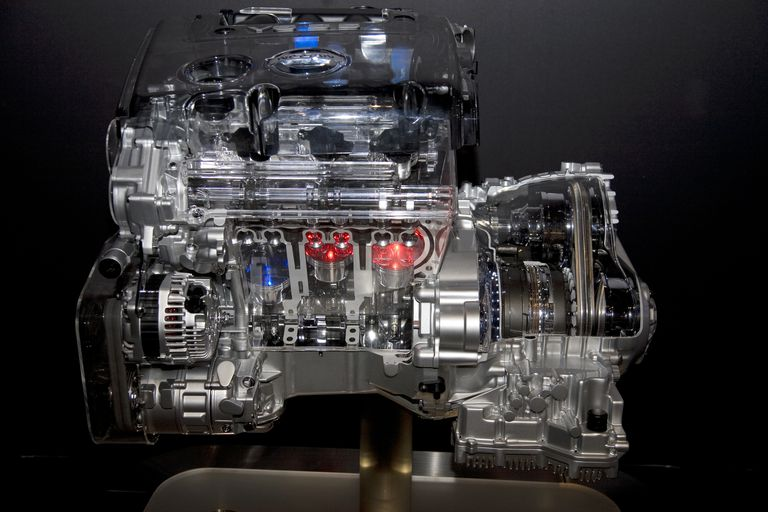 Engine displacement may be expressed in terms of cubic inches or cubic centimeters.