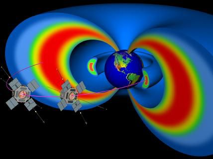 The Van Allen radiation belts are two regions of radiation that encircle the Earth.