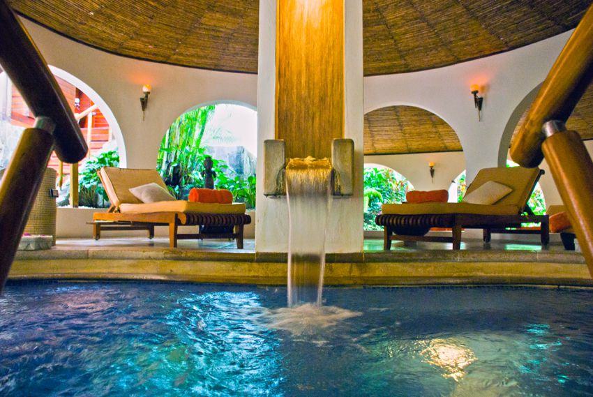 Tabacon hot springs resort in Costa Rica