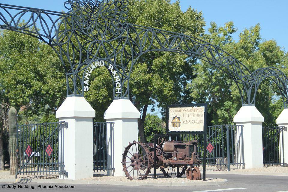 Sahuaro Ranch Park Historic Area in Glendale, AZ
