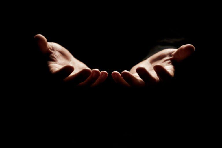 open hands receiving blessings Barachiel angel
