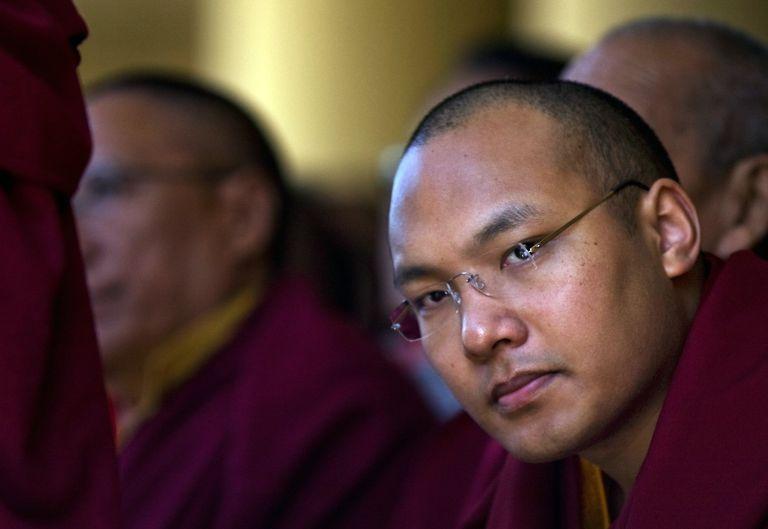 Karmapa Looks at Camera