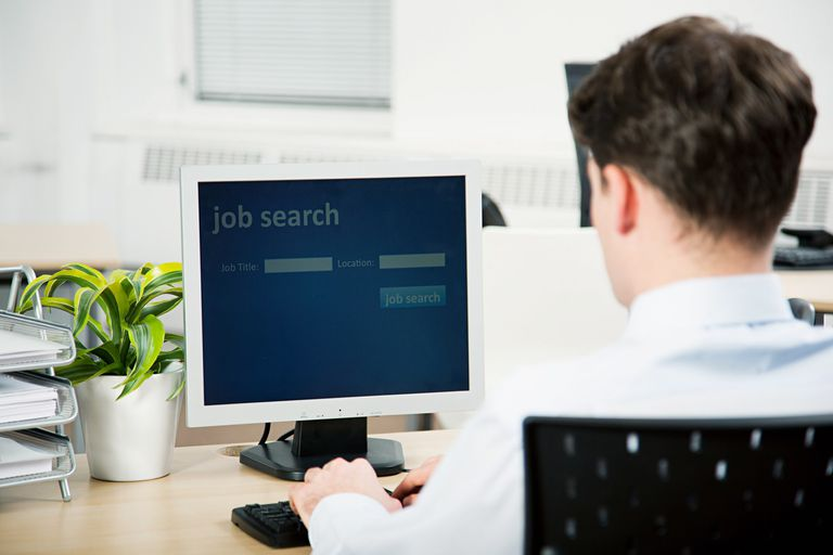 A picture of a person looking for a job