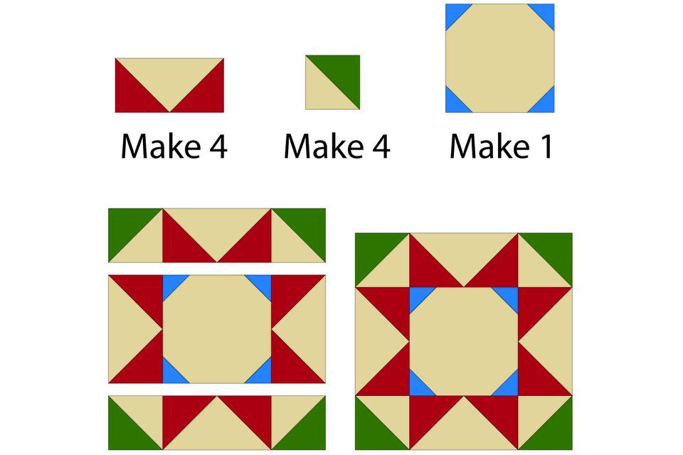 Stars Quilt Block Pattern