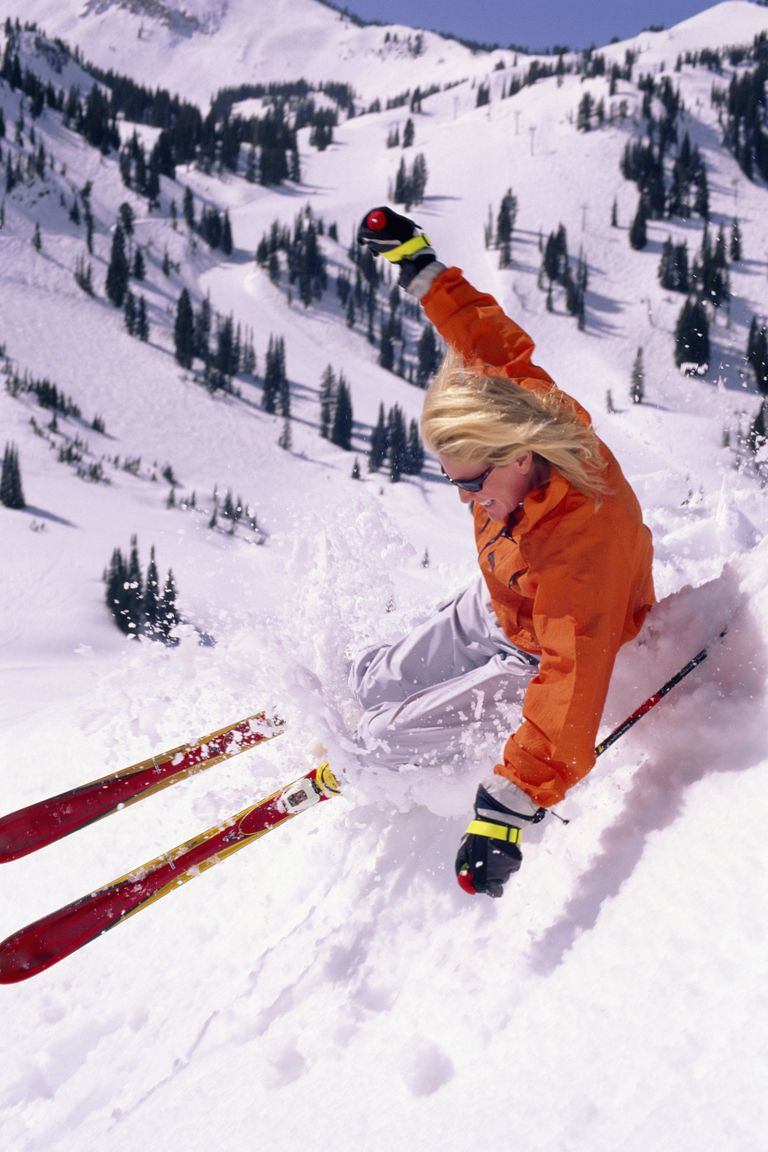 Woman Spring Skiing