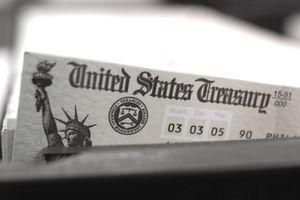 Blank US Treasury check