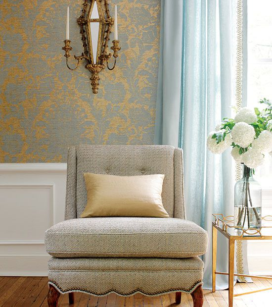 A Living Room In Subtle Golds