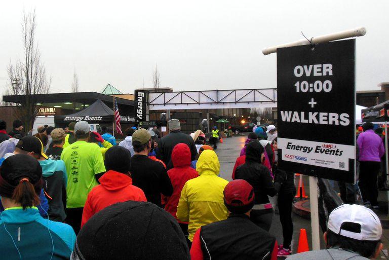 Ft. Vancouver Run Starting Line Walker's Corral