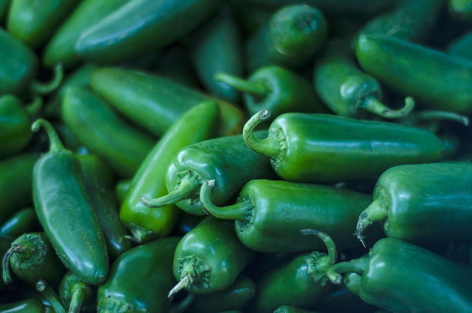 Hot Green Serrano Chile Pepper