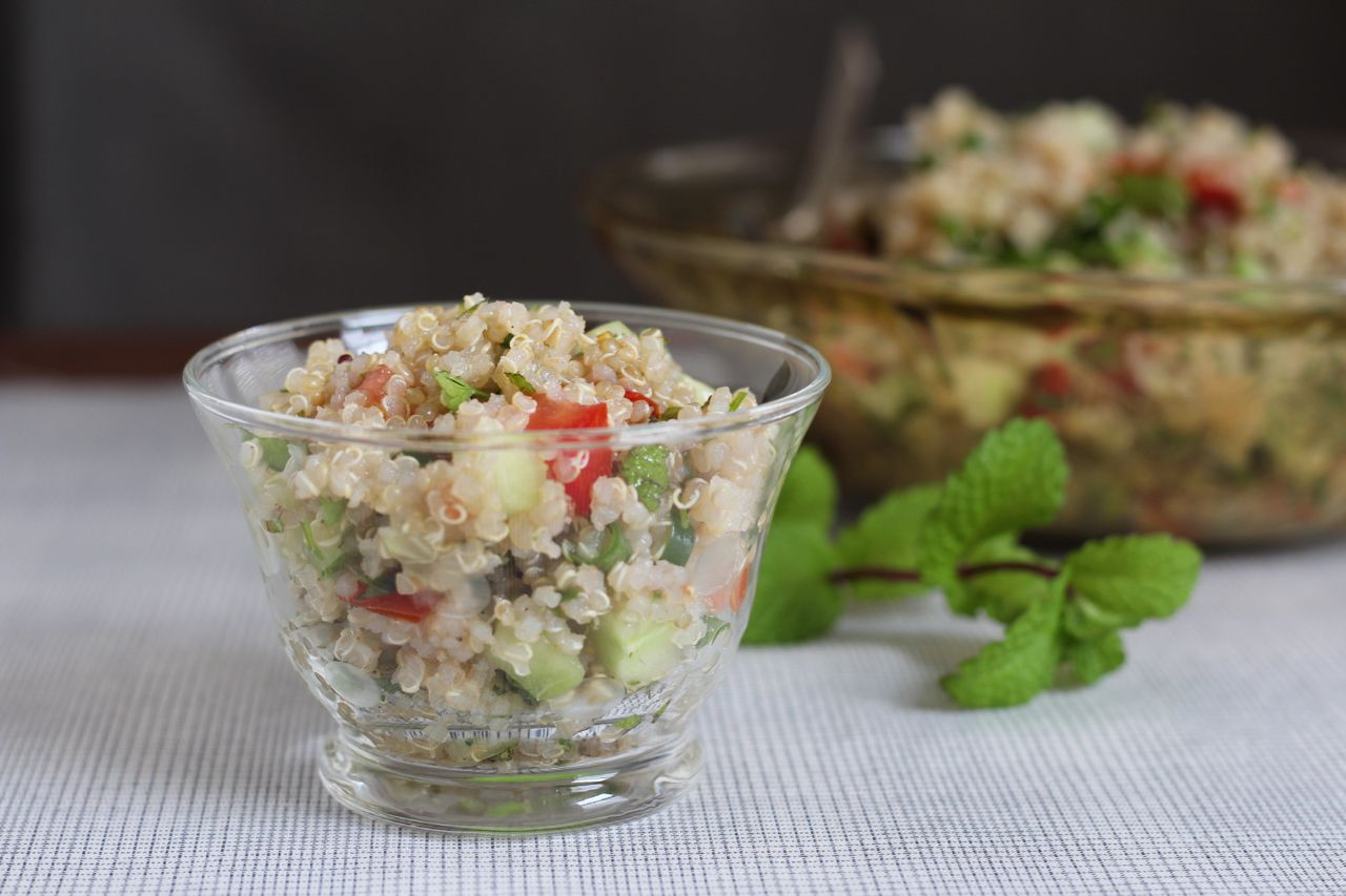 Simple Quinoa Tabouli Salad Recipe