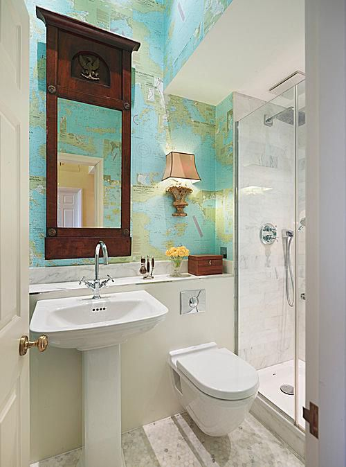 7 great ideas for tiny bathrooms for Great bathroom ideas