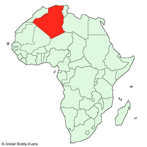 Where in Africa is Algeria?