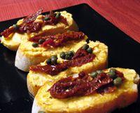 Goat Cheese with Paprika Tapa - Queso de Cabra con Pimenton (c)