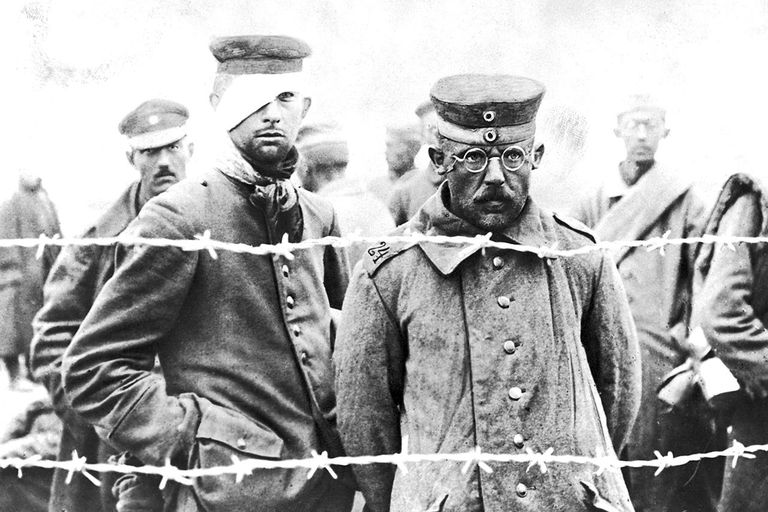 German prisoners of war in Russia, during World War I, 1918.