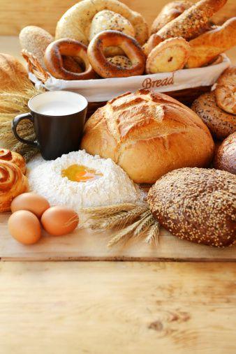 Tabla de índice glucémico de panes, pasteles y tortillas.